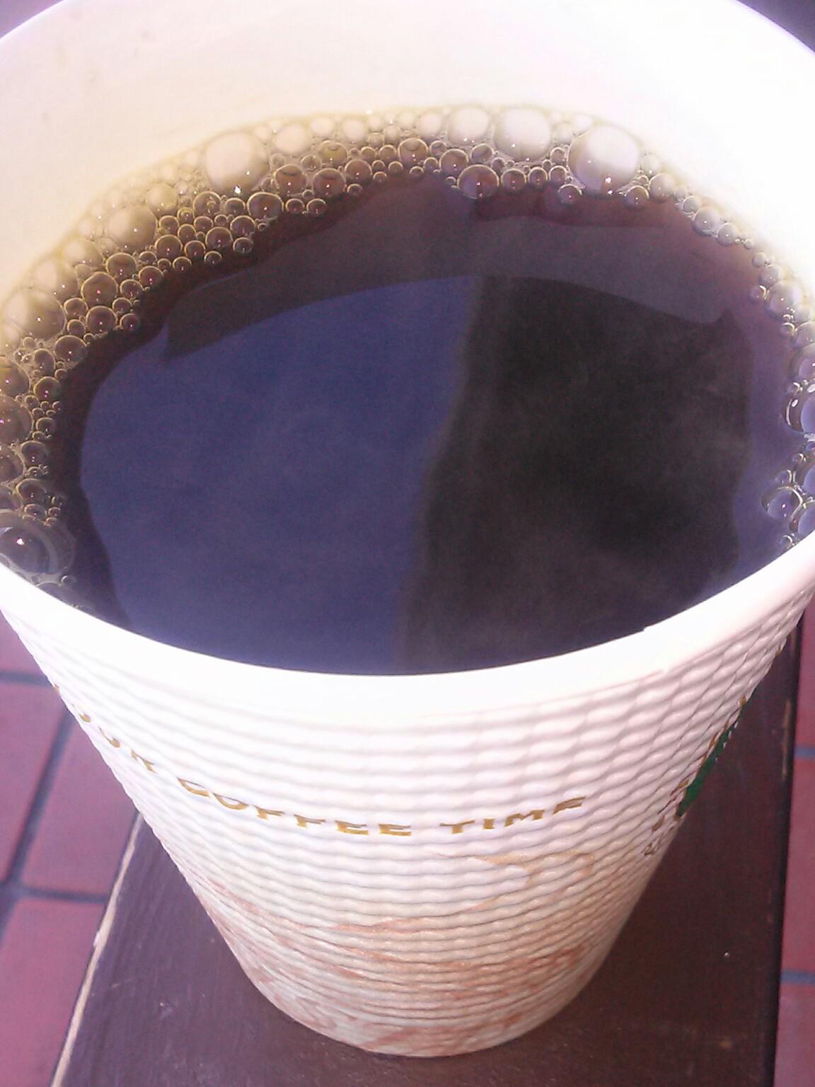 ちょっとだけ贅沢 セブンカフェの珈琲 今日は、ロングでちょっと贅沢 寒い時は、多いとも ...